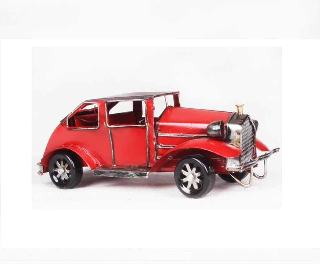 QRFDIAN Retro Oldtimer   Weiß, Home Decoration Automodell   Dekoratives Eisen-Handwerksauto   Gelb, Weiß,   Rot   12 x 10 x 8 cm (Farbe : Gelb) a872ff