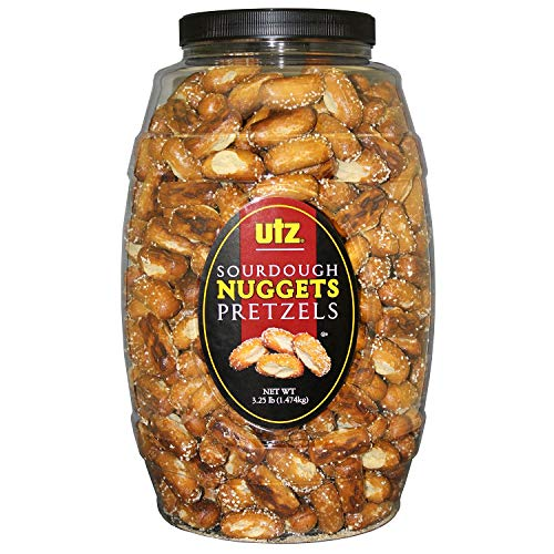(Utz Sourdough Nuggets Pretzels Barrel, 52 Ounce (Pack of)