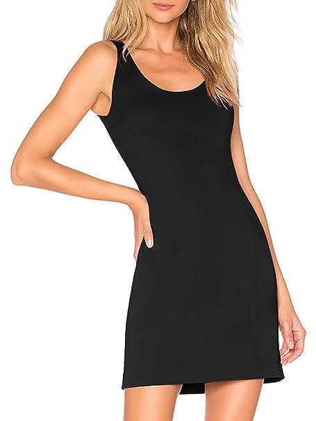 5a5f9da1b5043 Womens Nightgown Built-in Bra Chemise Modal Nightshirt Dress Sleepwear  Black M
