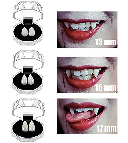 COOLJOY 3 Pairs Vampire Teeth Fangs Halloween Party Cosplay Props Horror False Teeth Props Party Favors Cosplay Accessories -