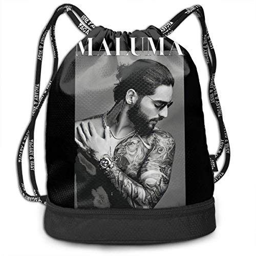 JINGS Maluma+Print Multifunctional Travel Sports and Leisure Mochila con cordón