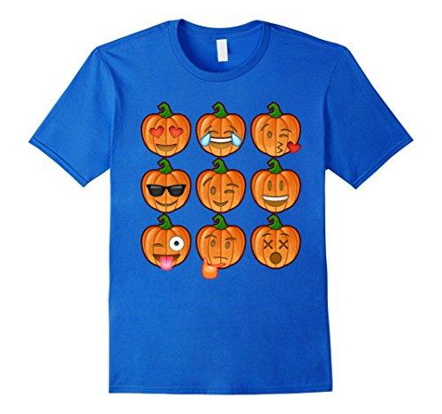 Mens Pumpkin Emoji Halloween Shirt Costume Ideas 2017 2XL Royal Blue