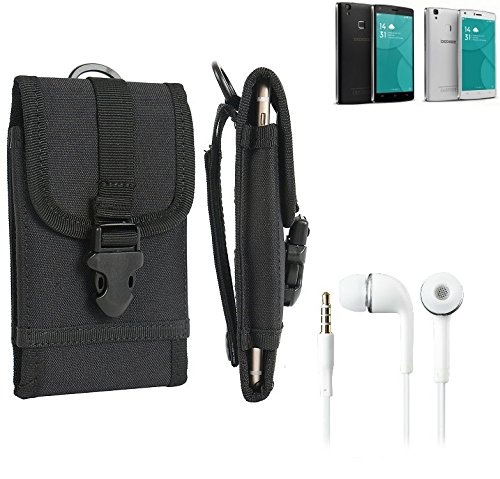 bolsa del cinturón / funda para Doogee X5 Max, negro + Auriculares   caja del teléfono cubierta protectora bolso - K-S-Trade (TM)