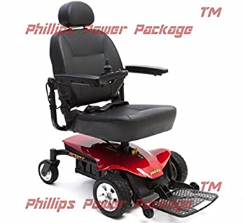 Pride Mobility - Jazzy Sport Portable Power Chair - Jazzy Red - PHILLIPS POWER PACKAGE TM - TO $500 VALUE