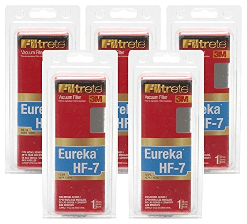 Filtrete 5 x NEW 3M Eureka HF-7 HEPA Vacuum Filter 67807A for 2270/2900 Series (5 Pack)