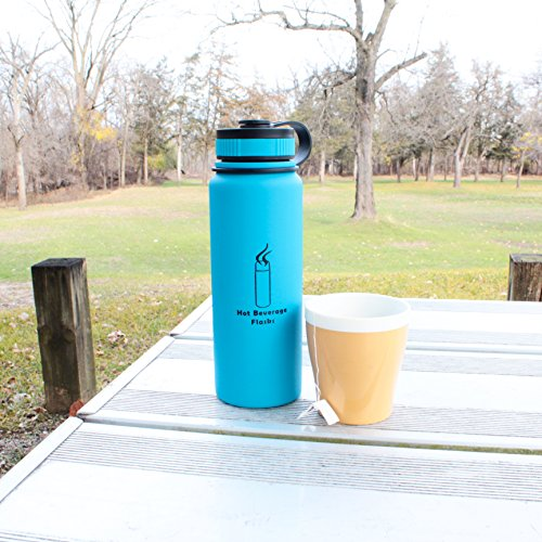 Stainless Steel Water Bottle - Best Vacuum Flask, Double Insulated Flask by Hot Beverage Flasks - Size 27 oz / 800 ml, Blue