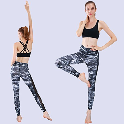 JIALELE Yogahose Ihre Fitness Hose_Stamp Yoga Hose Atmungsaktive Laufen Fitness Pants Dance Enge Hosen