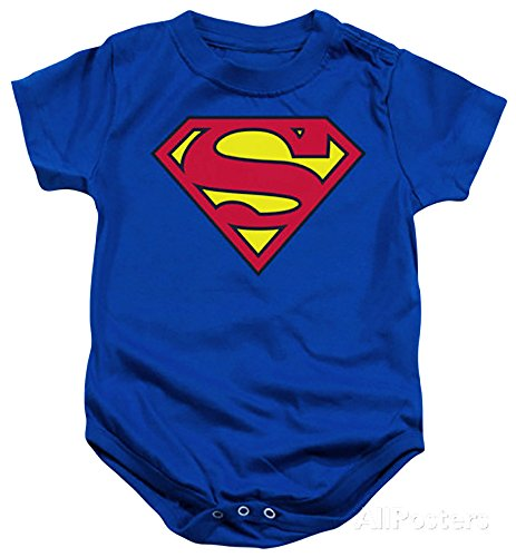 Superman Logo Baby Kids Infant Childrens Onesie Creeper Romper L (12-18mo) (Superman Adult Onesie)