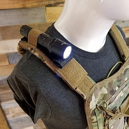 Atlas 46 Shoulder Attatchment Mini Flashlight Leveler Black Hand Crafted in The USA Altas 46