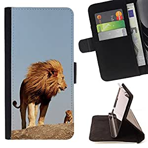 Jordan Colourful Shop - Nature Cute Mother Mom Mommy Lion For Sony Xperia Z1 Compact D5503 - Leather Case Absorci???¡¯???€????€???????