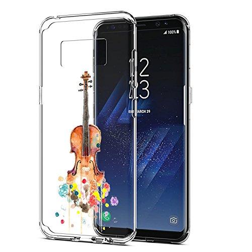 Funda Galaxy S8,Vanki® Carcasa Cubierta TPU Silicona Goma Suave Case Protection y Premium Clarity Cover Ultra Fino Anti-Arañazos para Samsung Galaxy S8-diseño original 5