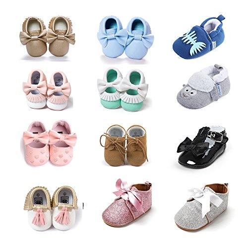Sneaker for Babies Girl Boys Shoes Leather Casual Blue Pink Gray 6 12 18 Months Blue Pink Gray
