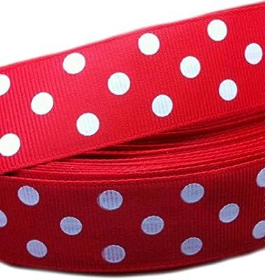 Webband Borte Schrägband Punkte rot weiß schwarz blau  Ripsband Zierband