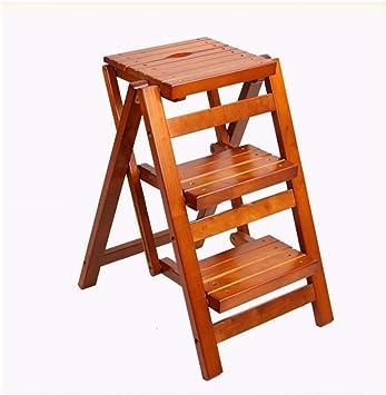 Jian E Escalera Plegable Sólidos de madera sillas plegables portátiles PORTAESCALERAS cocina de alta heces extraíble Oficina multifunción Paso de heces de almacenamiento //: Amazon.es: Bricolaje y herramientas
