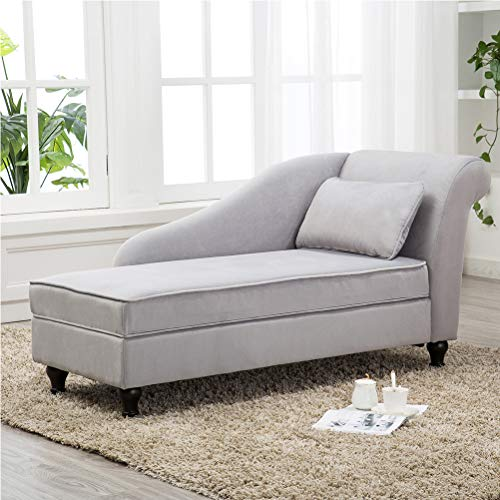 - Modern Chaise Lounge Open Fold Spa Sofa Long Lounger for Bedroom, Office, Living Room with Storage