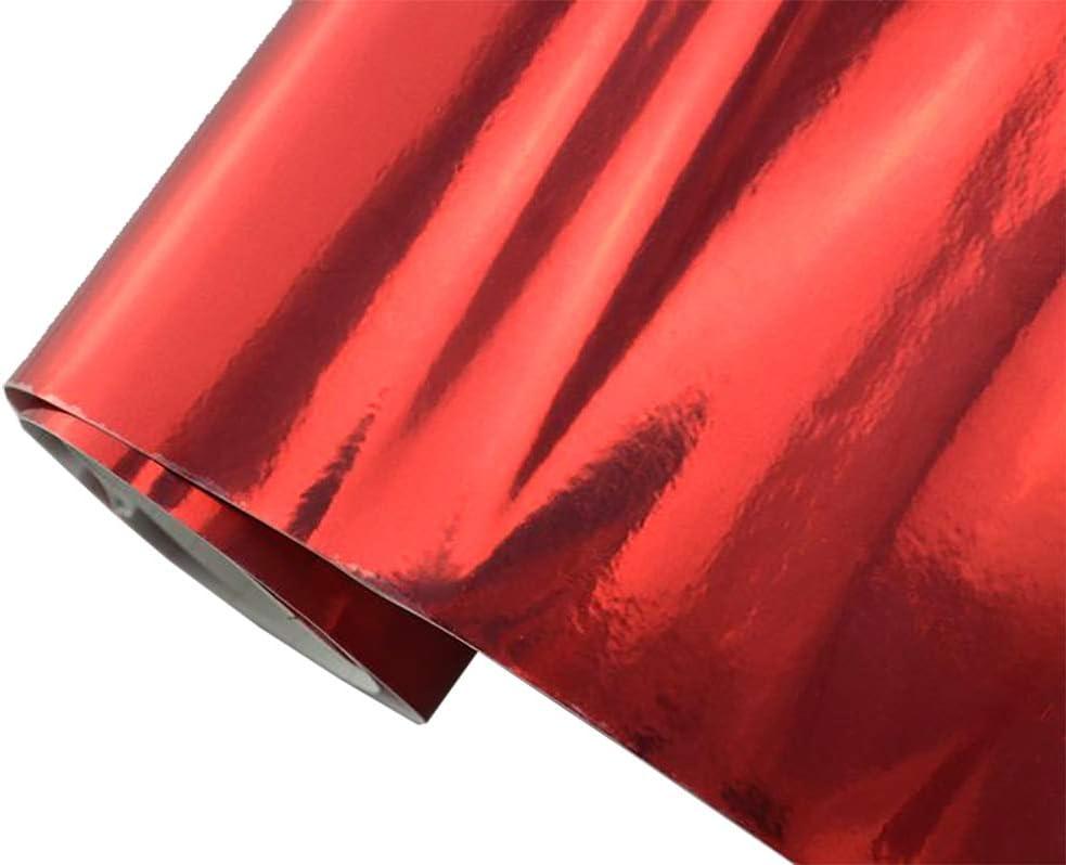 Neoxxim 24 22 M2 Premium Auto Folie Chrom Rot Glanz GlÄnzend 30 X 150 Cm Blasenfrei Mit Luftkanälen Ca 0 15mm Dick Küche Haushalt