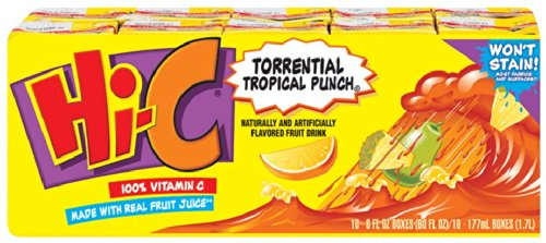 Hi-C Fruit Drink 10 PK (Pack of (Hic Fruit)