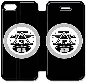 5 5s Cover,[Pu Leather Cover] NFL Oakland Raiders Large Logo Theme New iPhone 5 5s Case Cover KA6109