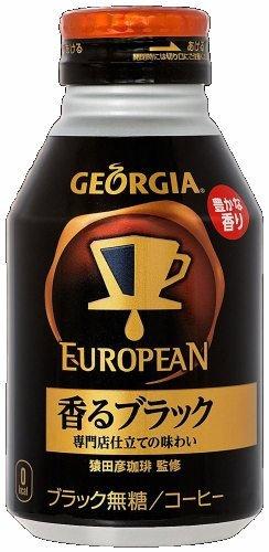 Black 290ml bottle cans X24 this scent Georgia European by Georgia