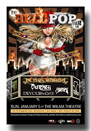 Toon Hoody - In This Moment Poster - Concert ITM Maria Brink 11 X 17 Toon