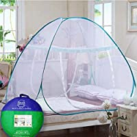 Sterling Mosquito Net for King Size Bed, Mosquito Net for Queen Size Bed, Mosquito Net for Double Bed 6 x 6 with 6 Savior