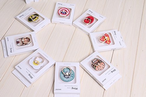 ZOEAST(TM) Avengers Marvel iRing Universal 360° Rotating Phone Buckle Tablet Finger Grip Ring Stand Holder Kickstand Tablets iPhone 4 4S 5 5S 6 6S SE 7 Plus Samsung iPad iPod at Gotham City Store