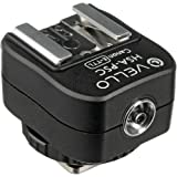 Vello Hot Shoe Adapter with PC Socket + Top Shoe - for Canon (E-TTL)(4 Pack)