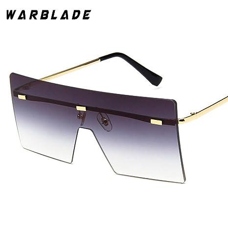 Amazon.com: Gafas de sol grandes de una pieza para mujer ...