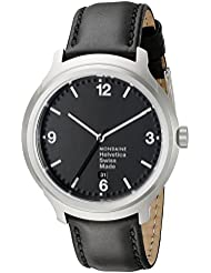 Mondaine Unisex MH1.B1220.LB Helvetica No1 Bold Analog Quartz Black Watch