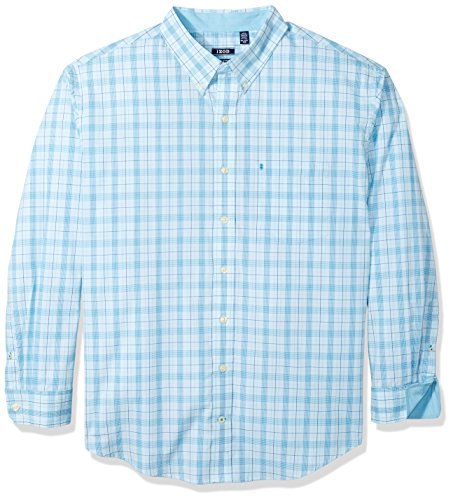 IZOD Men's IZOD Men's Premium Performance Natural Stretch Check Long Sleeve Shirt (Big & Tall and Tall ()