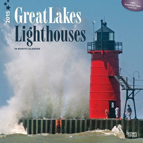 2014 18-Month Lighthouses Wall Calendar by TF Publishing