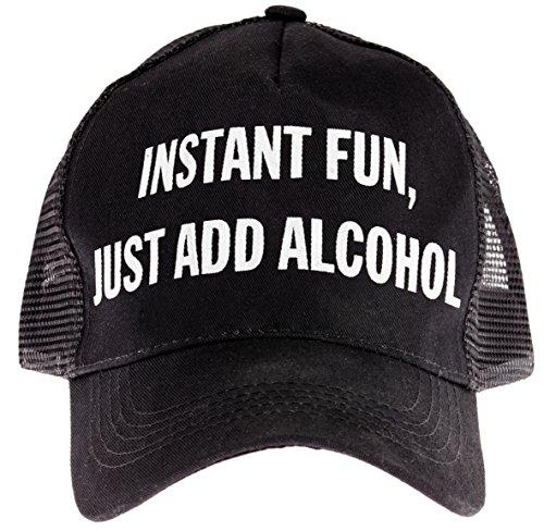 "(Snark City's Trucker Cap Hat Adjustable ""Instant Fun, Just Add Alcohol"")"