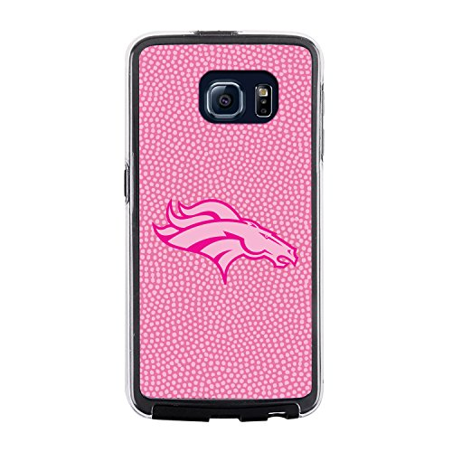 NFL Denver Broncos Football Pebble Grain Feel No Wordmark Samsung Galaxy S6 Case, Pink by Game Wear, Inc.