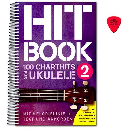 Hitachi portatil 2–100Chart Hits para ukelele (con textos y akkorden)–Sing portatil con Dunlop Púa–Verlag Bosworth boe78999783865439949 por Bosworth