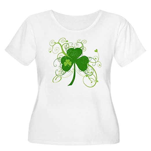 6ae5f279 Amazon.com: CafePress - Cool St Patricks Day Shamrock Women's Plus ...
