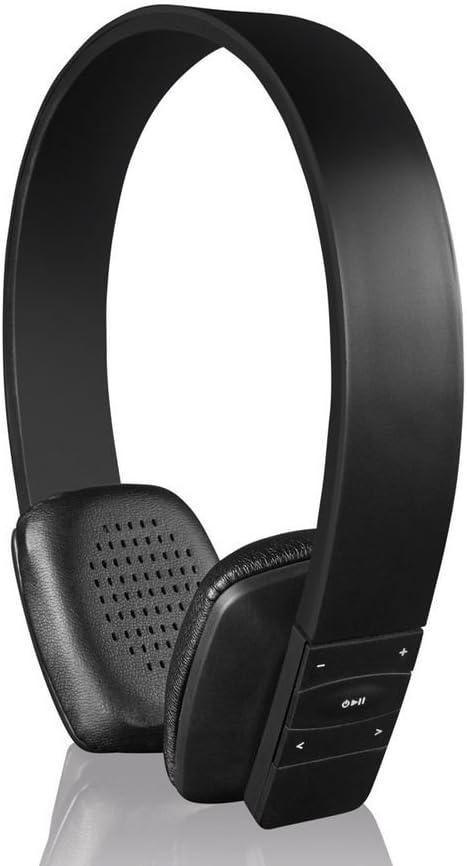 Silvercrest–Auriculares Bluetooth Inalámbrico Negro, con función manos libres, sonido excelente