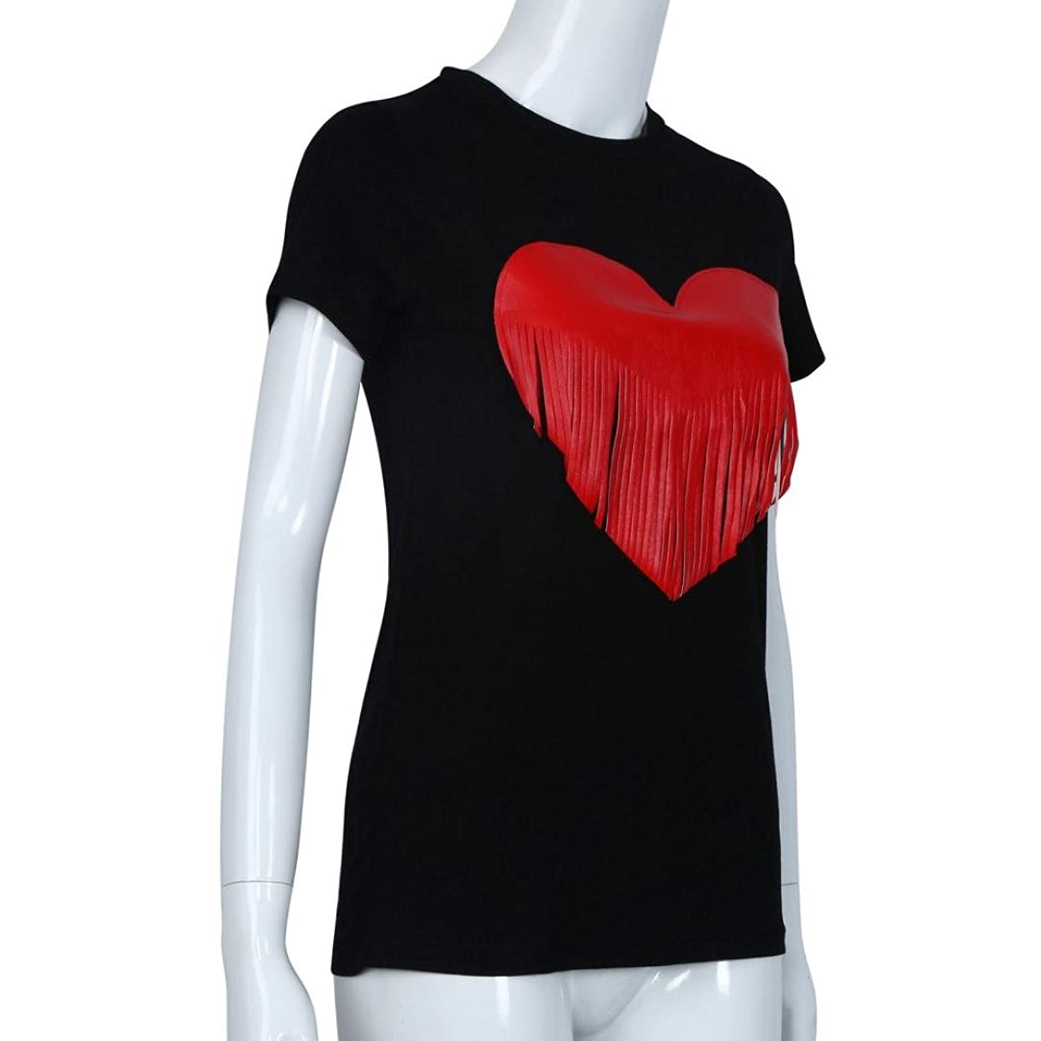 Amazon.com: DondPO 2018 Fashion Womens Lovely Red Heart Tassel Printed Short Sleeve Cotton T Shirt Casual T-Shirt Loose Summer Blouse Top Clothes: Clothing