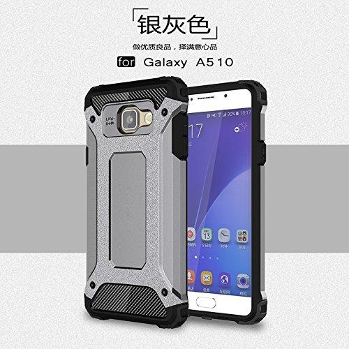Tough Hybrid Dual Layer Case for Samsung Galaxy A510 A5 2016 (Grey) - 1
