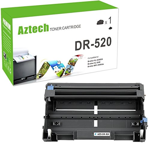 Aztech 1 Pack Compatible Drum Unit for Brother DR520 DR-520 DR620 DR-620 Drum Unit Brother HL-5250DN 5250DN Laser Printer brother HL 5240 HL 5340d Drum Brother 5370 hl-5370dw drum Black