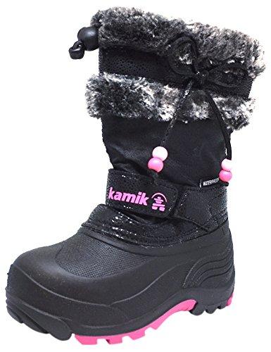 Kamik Kids Plume Snow Boots Black 1 (Kamik Lined Snow Boots)