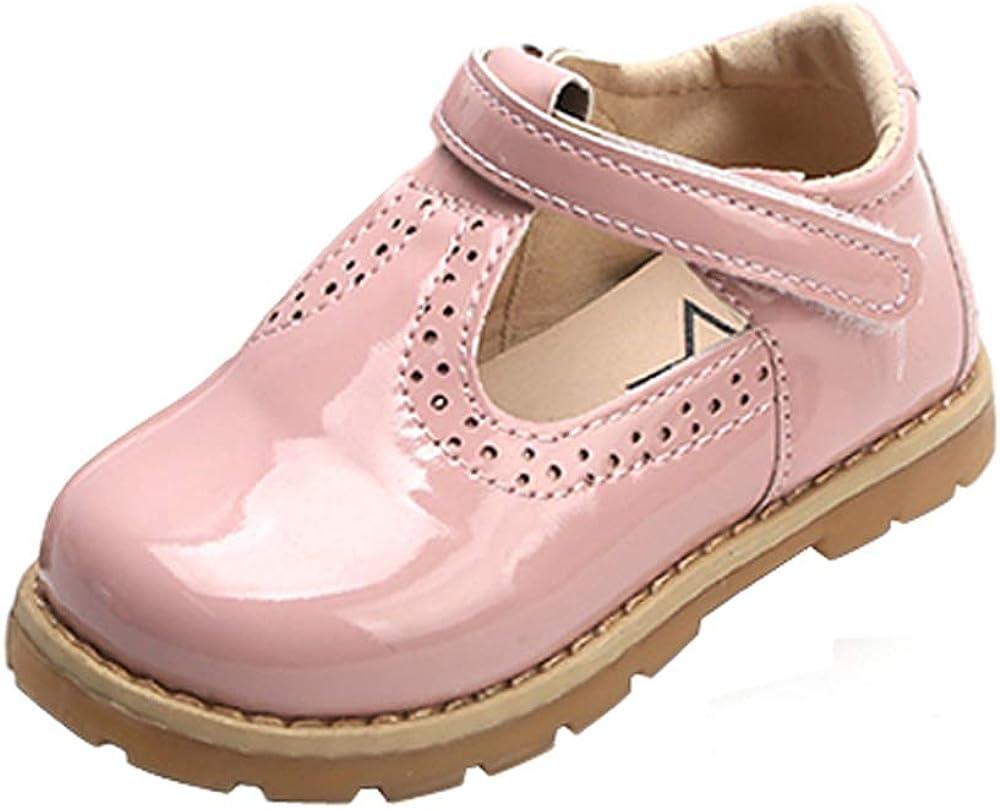 PPXID M/ädchen Prinzessin Ballerinas Festliche Mary Jane Schuhe T-Strap Lackleder Halbschuhe
