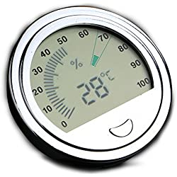 OMEM Reptile High Precision Digital Thermometer Hygrometer Data Measuring (Silver)