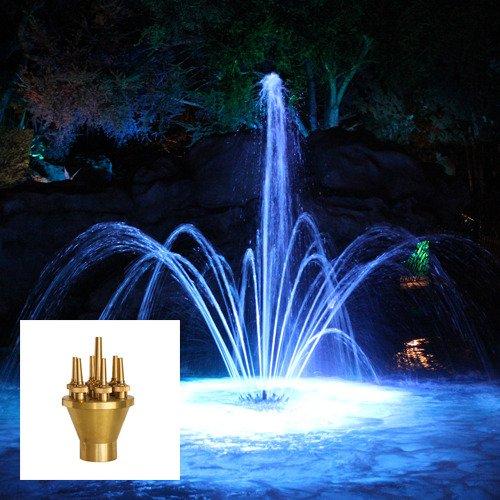 Aquacade Fountains Brass DN80 3'' Lotus Fountain Nozzle
