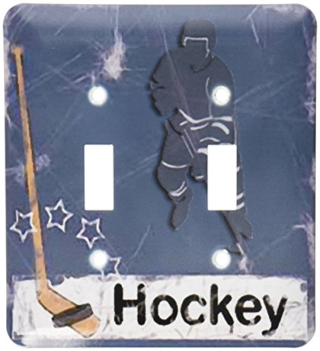 - 3dRose lsp_16310_2 Hockey Player Toggle Switch