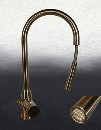 Innovativ Massiv Edelstahl Küchenarmatur mit Ausziehbrause Armatur  EP14
