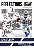 2017 Score Reflections #3 Emmitt Smith/Ezekiel Elliott Dallas Cowboys Football Card