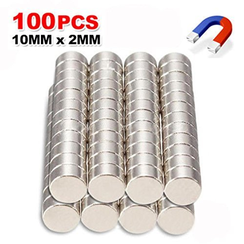 Coerni 100 Pack Strong Disc Neodymium Magnets - Durable Mini Magnets For Multi-Use