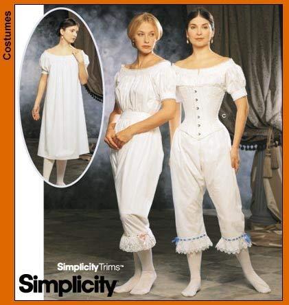 (Simplicity 9769 Sew Pattern MISSES' AUTHENTIC CIVIL WAR UNDERGARMENTS Chemise, Drawers, Corset PLUS SIZE 14-20)