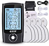 2020 New Upgraded Tens Unit Muscle Stimulator A/B Dual Channel Rechargeable for Pain 6 * 4 Modes Relief and Rehabilitation with 10 Pads,Dust Proof Drawstring Storage Bag Fastening Cable Ties