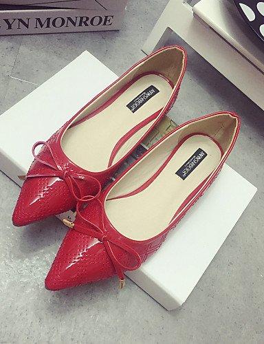 mujer eu38 casual black zapatos Flats Toe de zapatos señaló cn38 5 5 Classic us7 rojo de la negro tacón uk5 elegante gris PDX CHtqwt